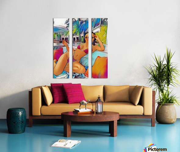 Riverside Split Canvas print