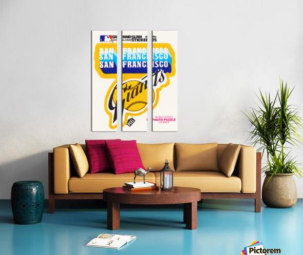 1979 fleer hi gloss san francisco giants sticker poster Split Canvas print