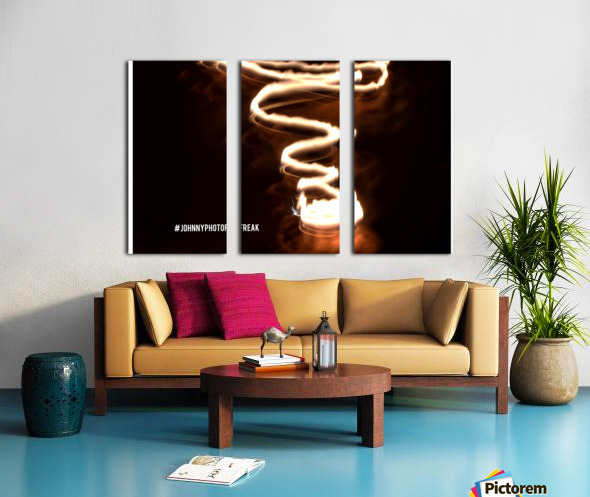 Fire  twist Split Canvas print