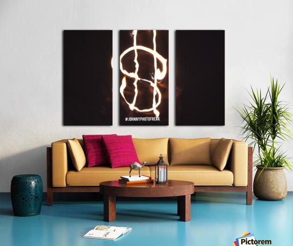 Money light painting fire Split Canvas print