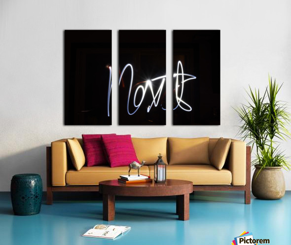 Next light painting Split Canvas print