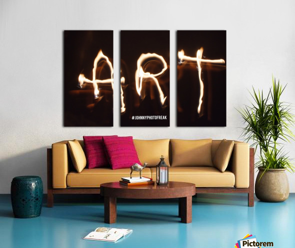 Fire Art Split Canvas print