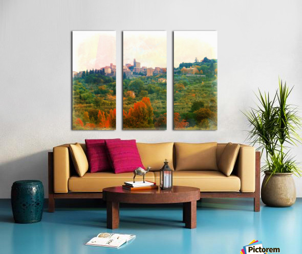 Panicale in Fall Split Canvas print
