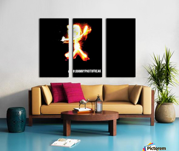 Fire Stickman Split Canvas print