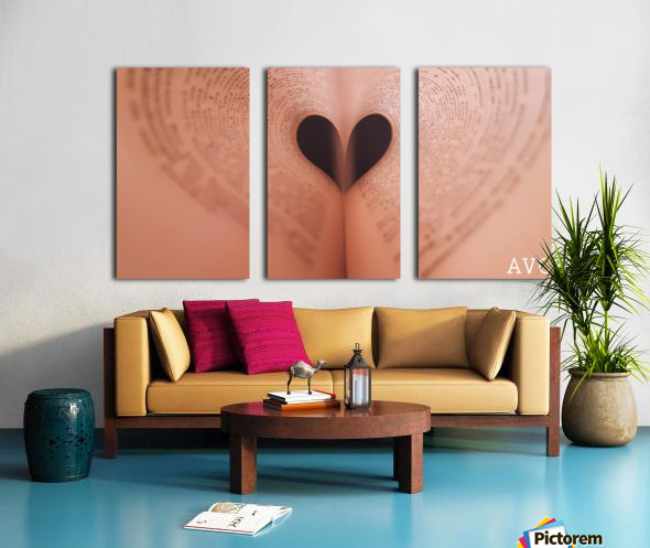 Love of Reading Split Canvas print