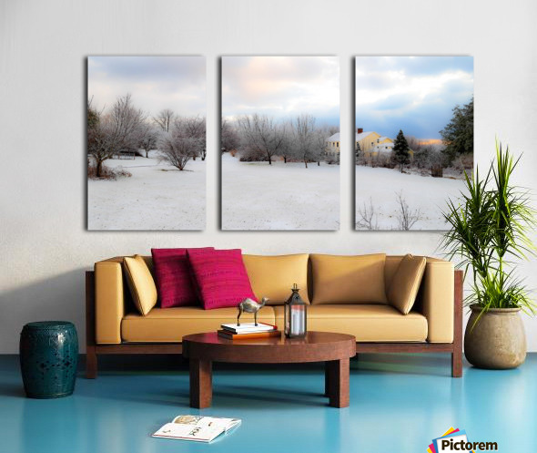 Winter Cottage Split Canvas print