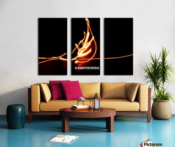 Fire leaf Split Canvas print