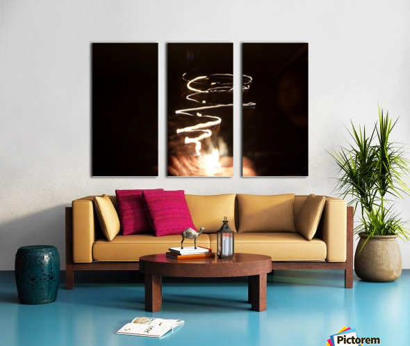 Fire twisted  Split Canvas print