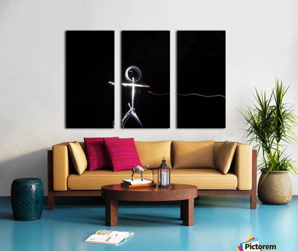 light stick man Split Canvas print