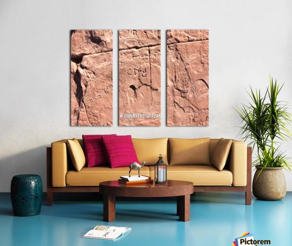 Rock wall  Split Canvas print