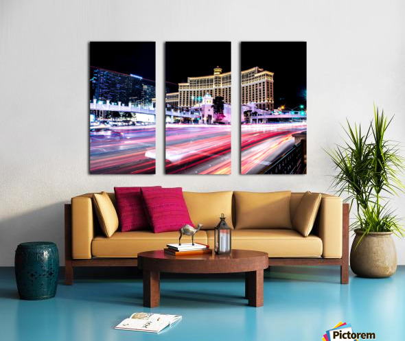 Las vegas night shot Split Canvas print