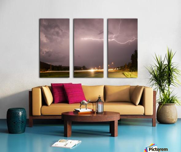 Lightning Catch  Split Canvas print