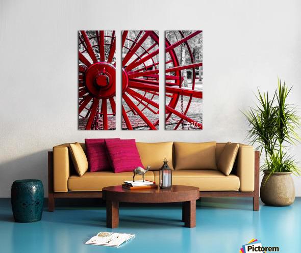 Wagon Wheel Split Canvas print