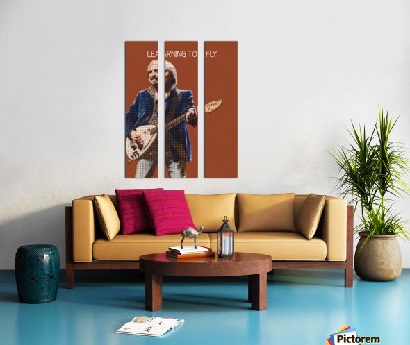 Learning To Fly   Tom Petty & the Heartbreakers Split Canvas print
