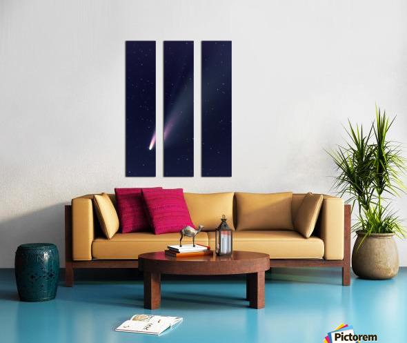 Neowise Comet 2020 Split Canvas print