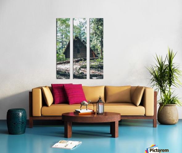 Chapel in the Woods Split Canvas print