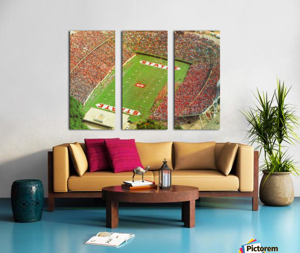 1985 nc state wolfpack carter finley stadium raleigh north carolina college football aerial photo Split Canvas print