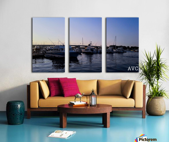 Small Harbor Split Canvas print