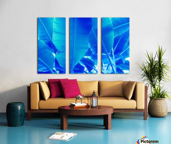 Blue Bananas - Re-Imagined Tropical Biophilia Split Canvas print