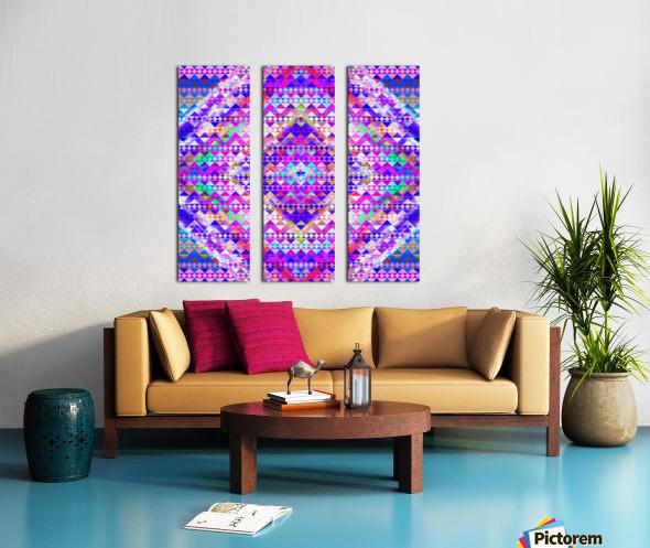 Mayan Pattern Blue Split Canvas print