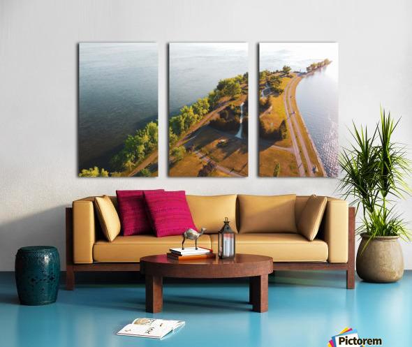 West River Shore Split Canvas print