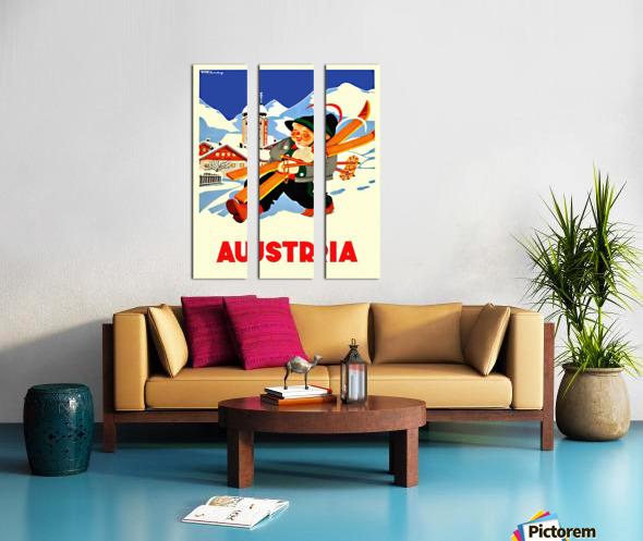Little Skier from Austria Split Canvas print