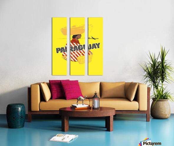 Paraguay Split Canvas print