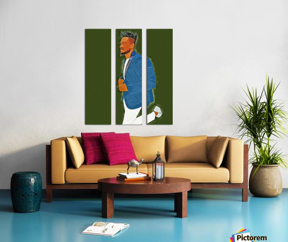 Rapper Split Canvas print