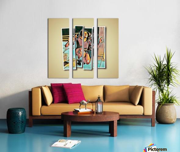 Get Down On It Split Canvas print