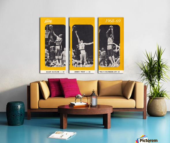 1968 los angeles lakers poster Split Canvas print