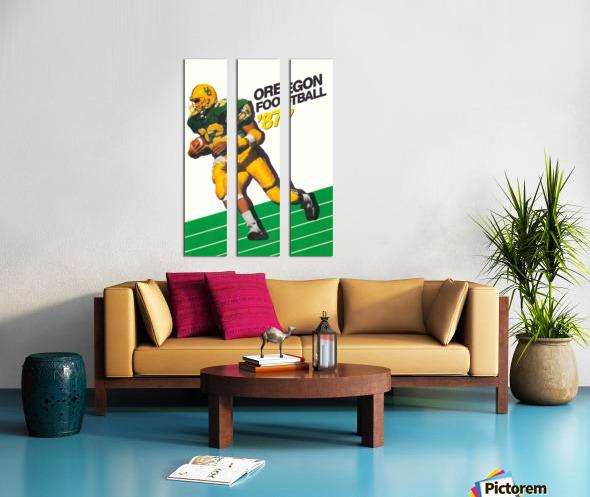 1987 oregon ducks retro football poster Split Canvas print