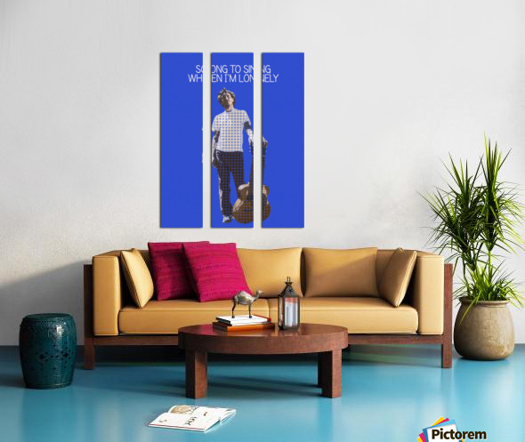Song To Sing When Im Lonely   John Frusciante Split Canvas print