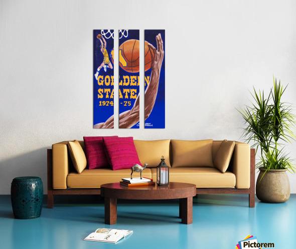 1974 golden state warriors basketball art murray olderman artist Split Canvas print