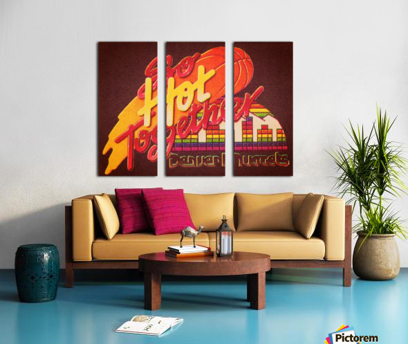 1988_National Basketball Association_Denver Nuggets Split Canvas print