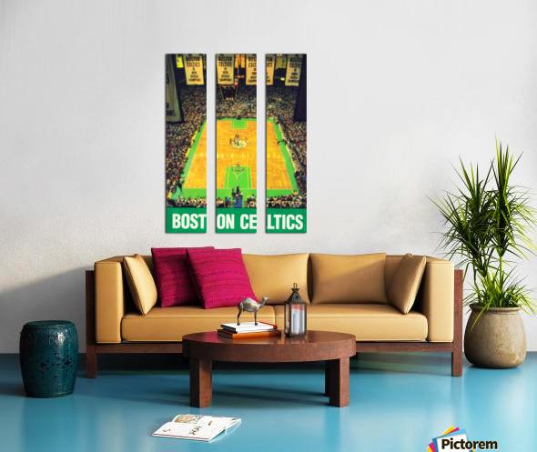 1988 Boston Celtics Boston Garden Art Split Canvas print