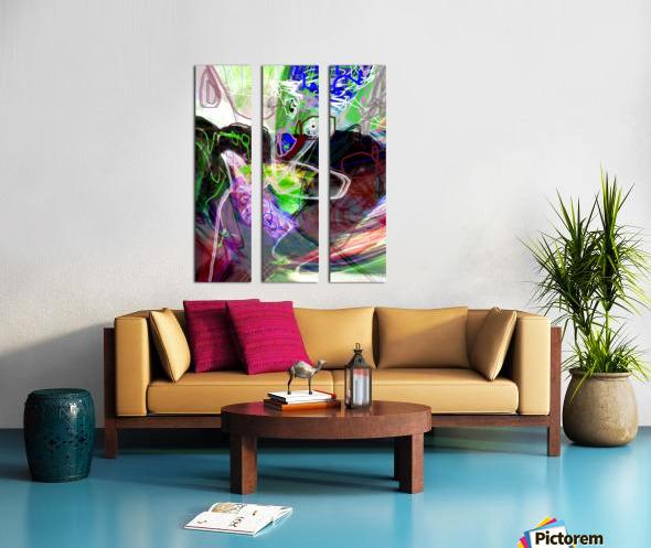 WOMAN FLYING WITH BIRD Split Canvas print