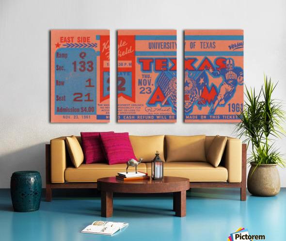 1961 texas am aggies football ticket wall art Split Canvas print