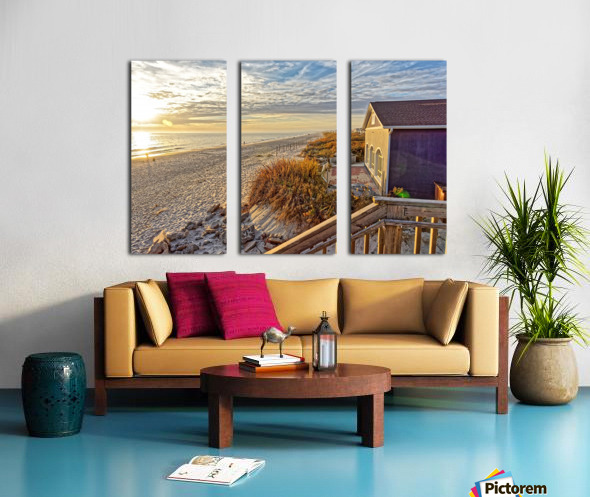 Oak Island Pier View Split Canvas print