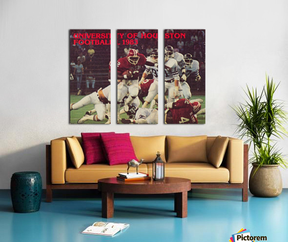 1983 houston cougars football Split Canvas print