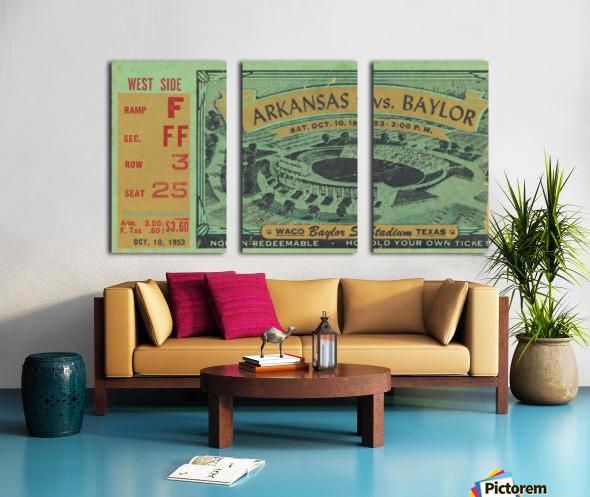 1953 arkansas baylor football ticket wall art Split Canvas print