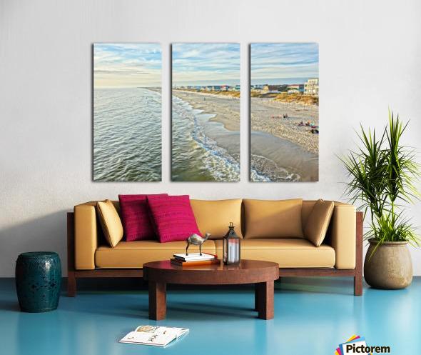 Oak Island Pier View2  Split Canvas print