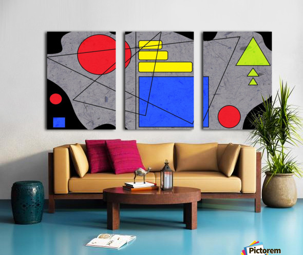 Simple Shapes V Split Canvas print