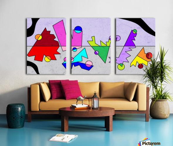Simple Shapes VI Split Canvas print