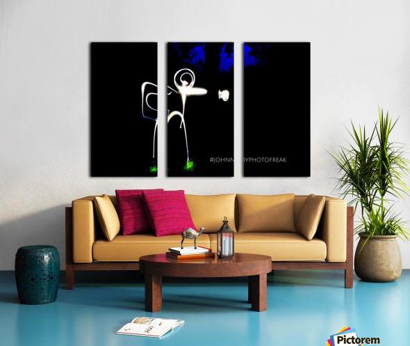 Stickman light comfort Split Canvas print