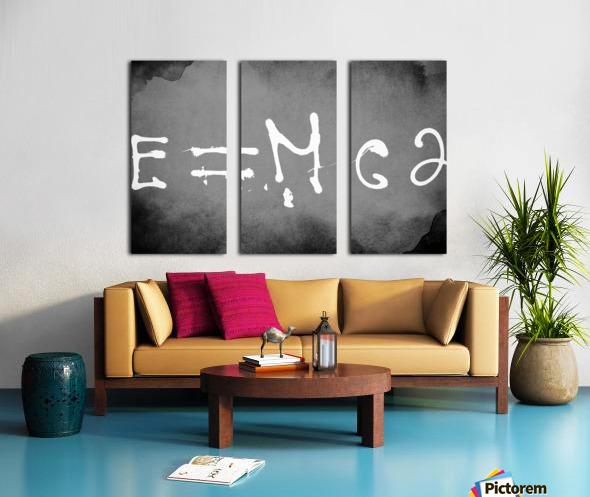 E=mc2 Split Canvas print