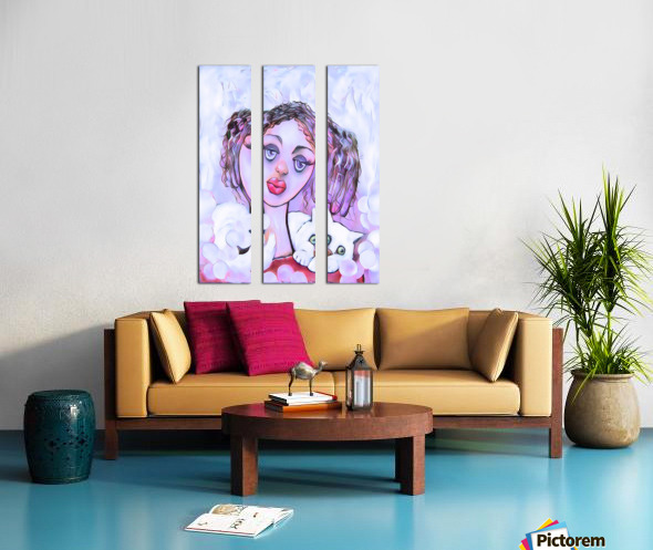 Collier de chat Split Canvas print