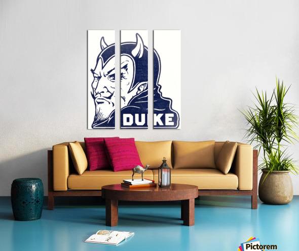 1950s duke university blue devil college art Split Canvas print