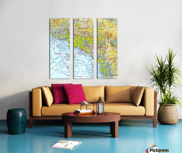 LA & San Diego Aeronautical Wall Art Split Canvas print