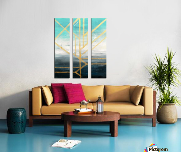 Art deco geometric II Split Canvas print