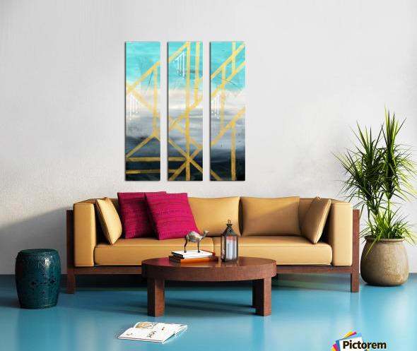Art deco geometric III Split Canvas print